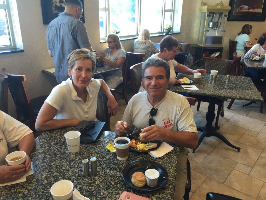 Van and Barb Breakfast at the Drury