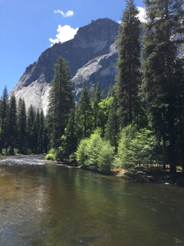 Mirror Lake beneath Half Dome