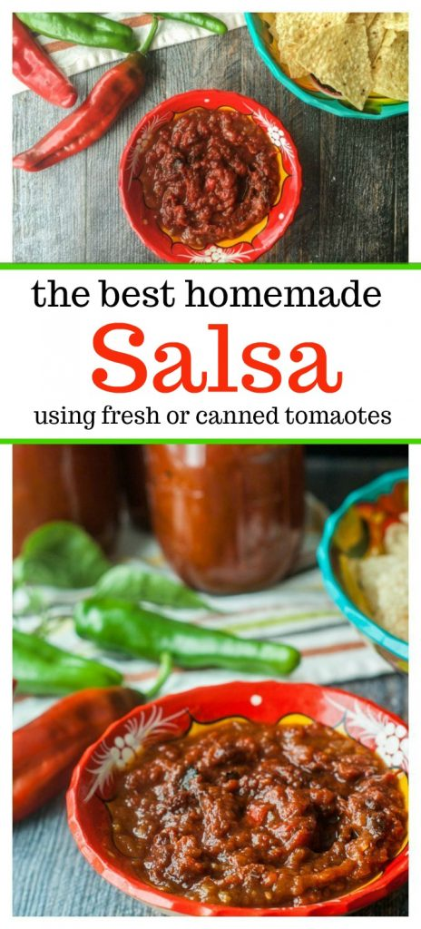 dishes of fresh salsa with text overlay